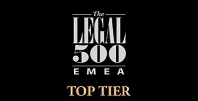 Recognized by the Legal 500 as a Tier one firm